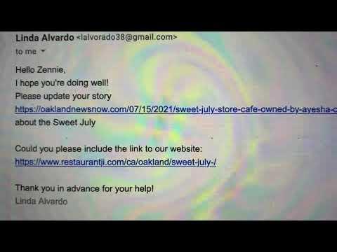 Sweet July Cafe At 455 23rd Street Oakland Focus Of Email Marketing Scam By Restaurantji.com - Vlog