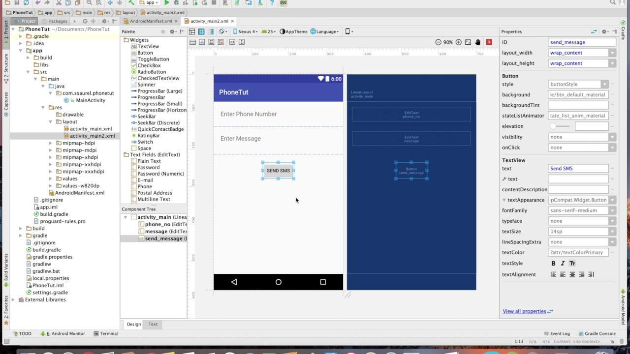Learn to send SMS programmatically on Android