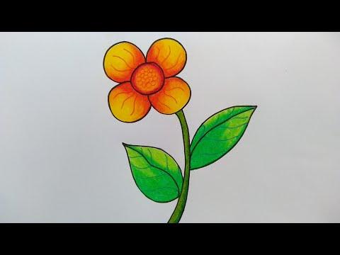 Cara Menggambar Bunga Matahari Cara Menggambar Bunga Yang Mudah Youtube