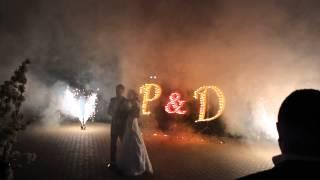 Наземный фейерверк и буквы на Свадьбу