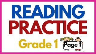 PRACTICE READING SENTENCES  -----Grade One-----Page 1