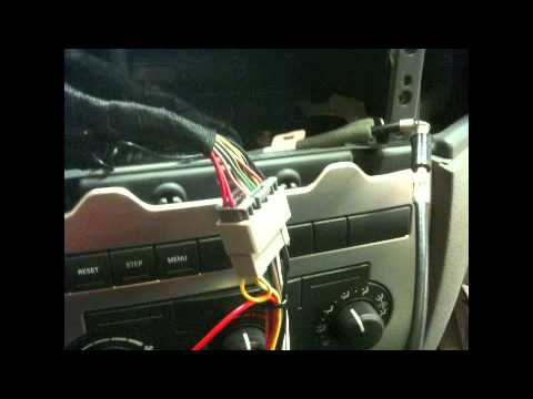 hqdefault how to factory radio removal and aftermarket radio install 2005 2006 dodge charger rt radio wiring harness at edmiracle.co