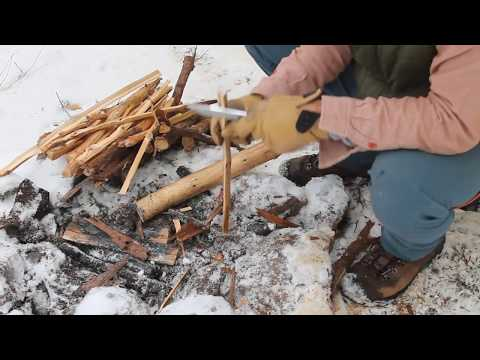 Camp Breakfast Bushcraft Style in the Snow