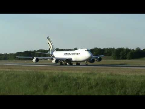 Amazing max weight long take off ! Boeing 747-200F SouthernAir euroairport