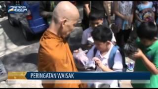 Ratusan Anak Ikuti Ritual Pindapata Tri Suci Waisak