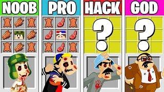 Minecraft Battle: CHAVES.EXE CHALLENGE! NOOB vs PRO vs HACKER vs GOD in Minecraft Animation