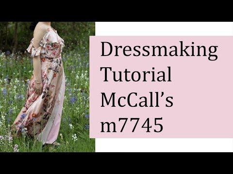 Sew A Fancy And Easy Wrap Dress - McCall's M7745 Pattern Tutorial