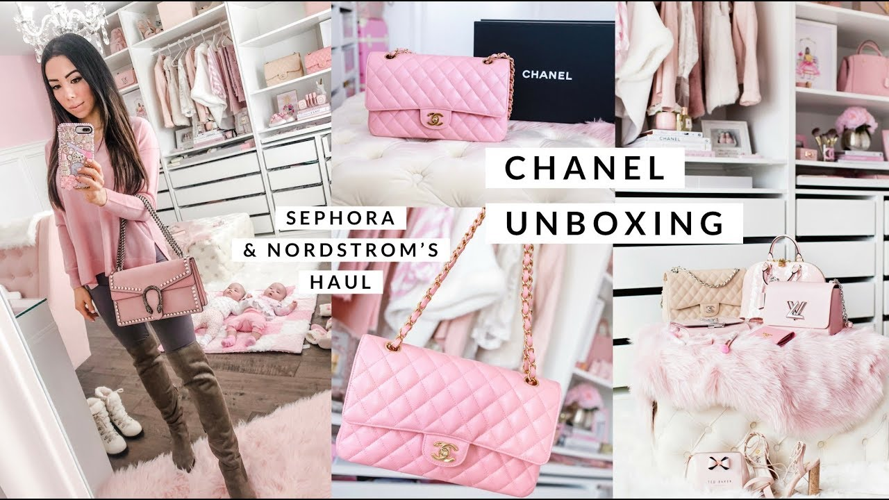 a2f4d02ecee646 CHANEL BAG UNBOXING! NORDSTROMS AND SEPHORA HAUL!💕 SLMissGlam - YouTube