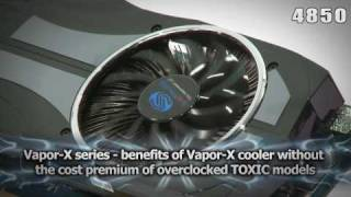 sapphire vapor x graphics cards 4870 2gb and 4850 product video in 720p