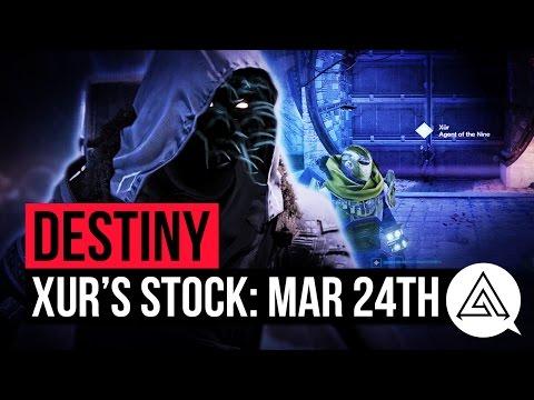 Destiny Xur March 24th - Xur's Location & Stat Rolls | Destiny Rise of Iron Exotics