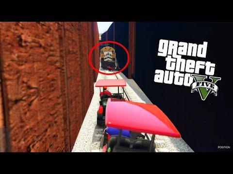 GTA V - ALS DE TREIN KOMT BEN JE AF! (GTA 5 Funny Jobs)