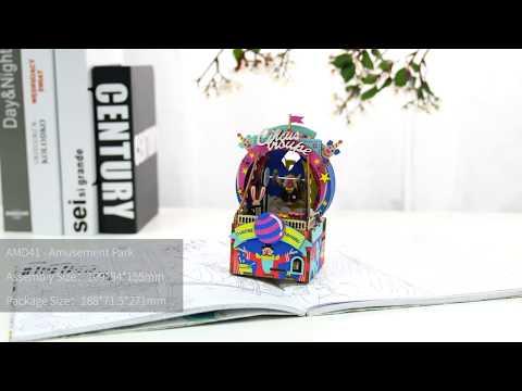 Robotime New arrival music box Series - 3D wooden puzzle - Amusement Park AMD41
