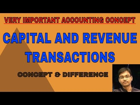 CAPITAL AND REVENUE- MOST IMPORTANT CONCEPT IN ACCOUNTING - PART 1 [HINDI]