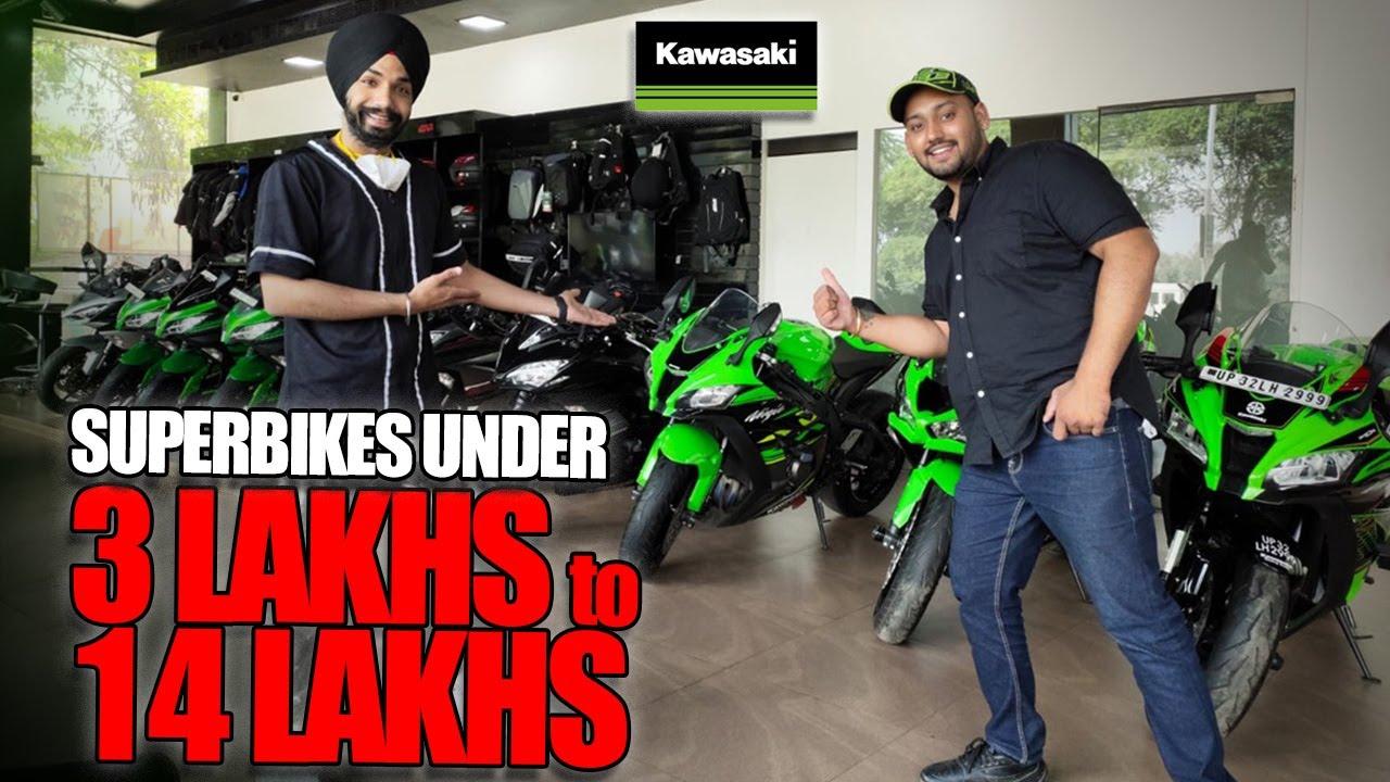 Kawasaki Superbikes Under 3 to 14 lakhs✅
