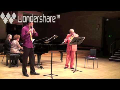 William Bennett and Vytenis Gurstis play Brahms flute duet