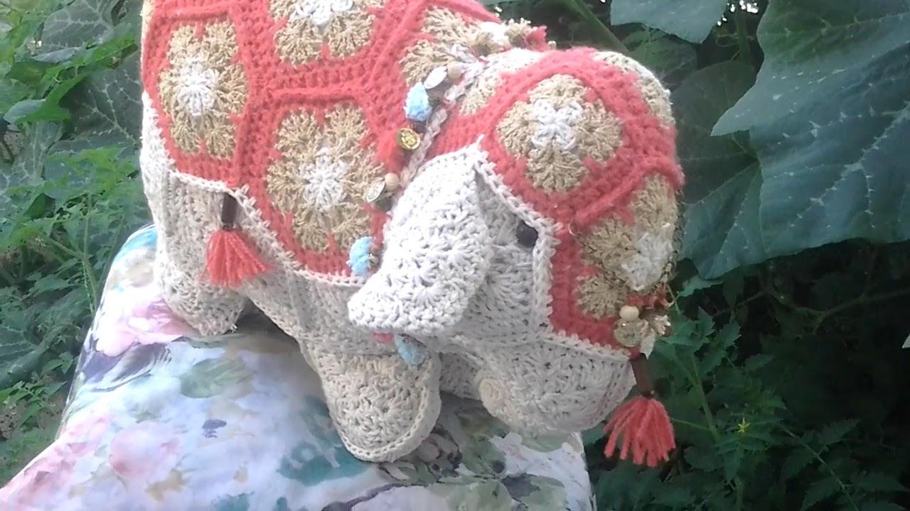 Crochet patchwork flores africanas elefante - YouTube
