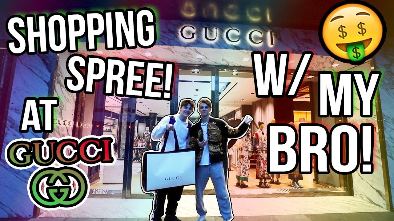 321e66b36 Taking my Brother on a Gucci Shopping Spree! ($7,000 TOTAL) - YouTube