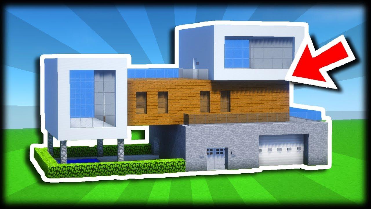 Comment Construire Une Maison Moderne Tuto Build Minecraft Youtube