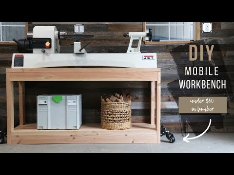 DIY Mobile Workbench | Lathe Stand On Wheels | How To