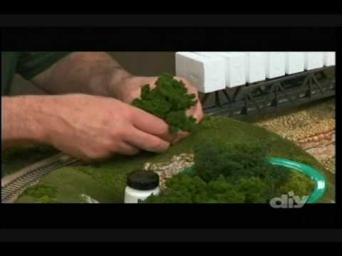 Model Railroad Building plus Scenery and Trees