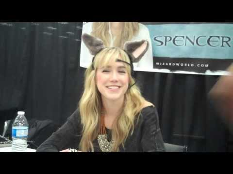 Spencer Locke trying to move ears with her mind at Austin Comic Con