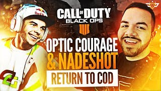 OPTIC COURAGE AND NADESHOT RETURN TO COD! - LIVE REACTION TO BLACK OPS 4!