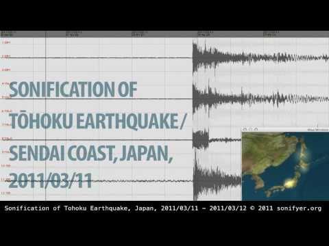 Sonification of Tohoku Earthquake / Sendai Coast, Japan, 2011/03/11