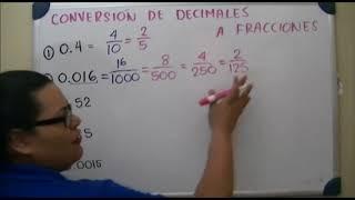 Convertir de decimales a fracciones