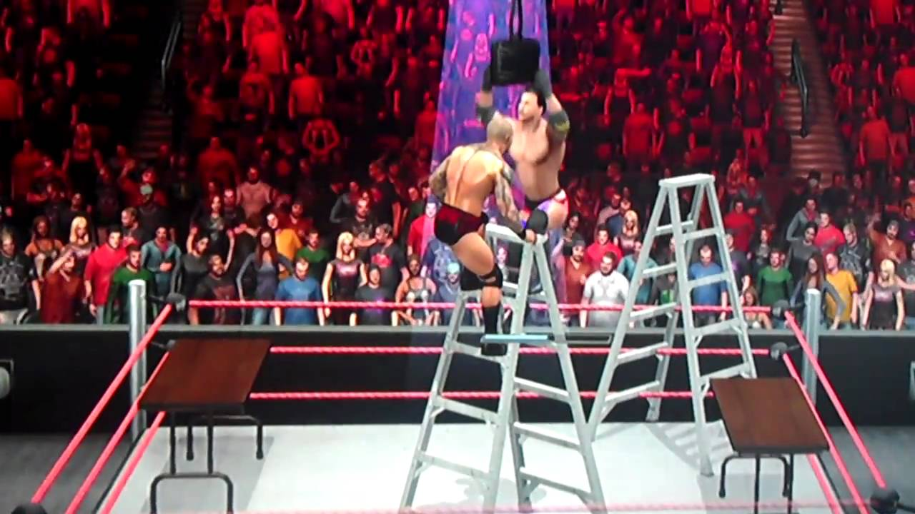 Wwe smackdown vs raw 2011 game play tlc match tables ladders chairs youtube