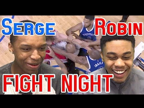 PUNCHES HAVE BEEN THROWN!!!! SERGE IBAKA AND ROBIN LOPEZ FIGHT REACTION!! Raptors vs Bulls