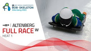 Altenberg | BMW IBSF World Championships 2020 - Women's Skeleton Heat 1 | IBSF Official