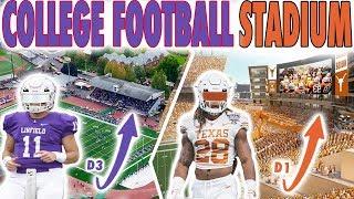 D1 College Football Stadium VS D3 College Football Stadium