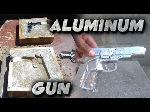 Thumbnail: Casting A 9mm Toy Gun Into Solid Aluminum Not Lost Foam