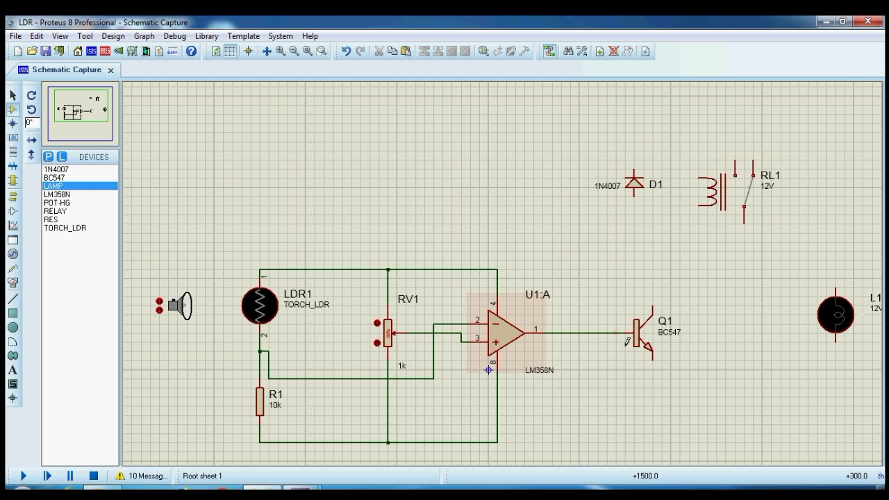 Ldr Based Street Light Control Using Proteus Youtube Picture Of Automatic Switching Lights By And Relay