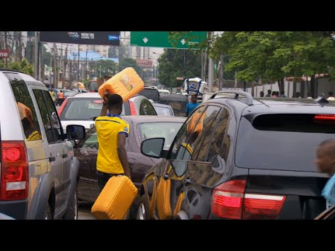 Fuel shortage causing long lines in Nigeria