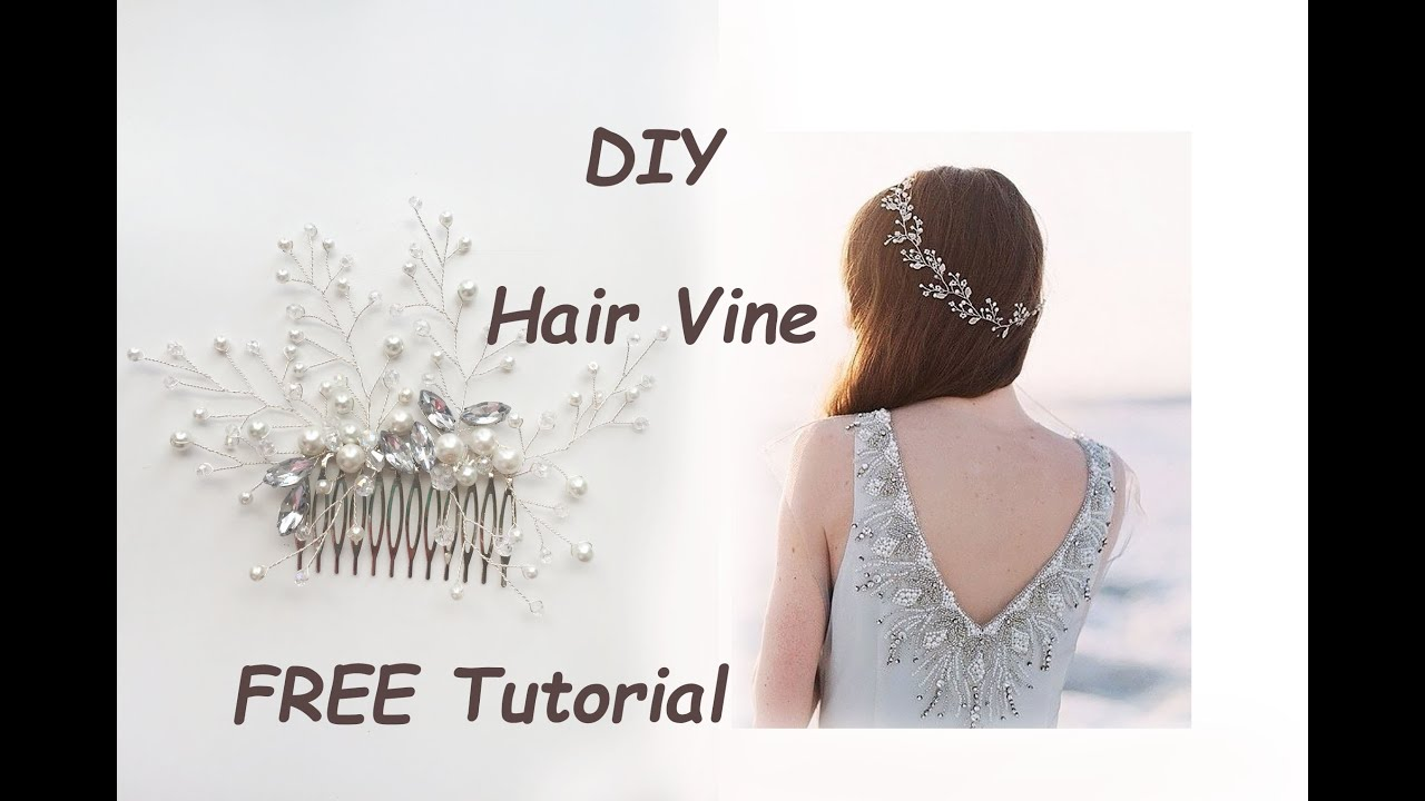 Very Easy DIY Bridal Hair Vine Comb Pin Tiara Tutorial