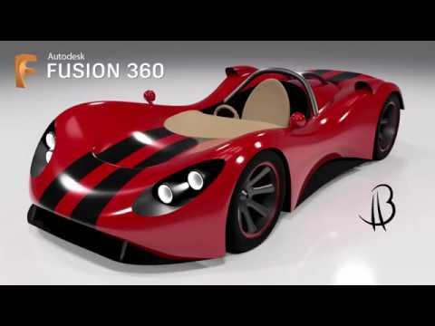 Car Design Speedrun 18 - Using Autodesk Fusion 360 - track car