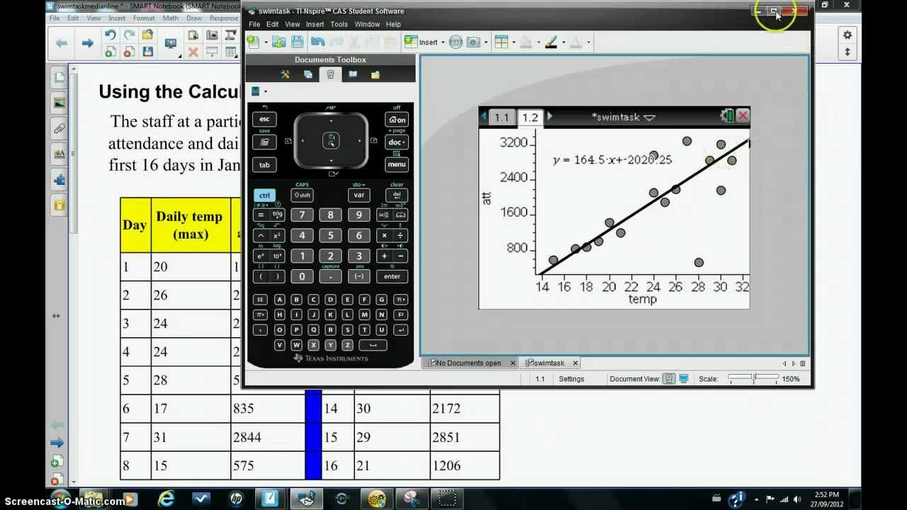 Using The Calculator To Create The 3median Regression Line