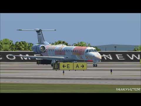 EMBRAER 145 OUT LA GUARDIA AIRPORT NY.
