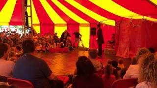 Lucas Jet Circus Bike and Unicycle Comedy in Bigtopmania Circus