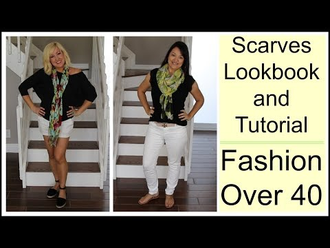How To Style Spring & Summer Scarves For Everyday Outfits Lookbook   Fashion For Women Over 40