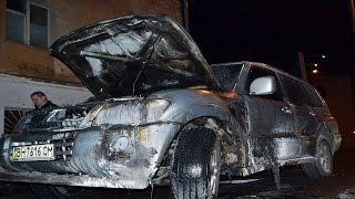 В Одессе велосипедисты сожгли джип лидера «Автомайдана»