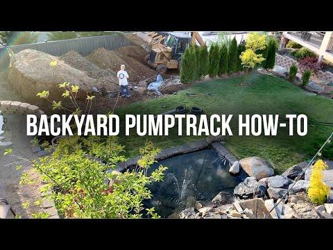 How To Build A Backyard Pumptrack!