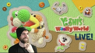 Yoshi's Woolly World Longplay | Part 1 | Worlds 1 & 2 | All Wool and Flowers