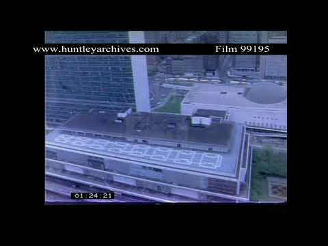 The UN Building, New York in 1975.  Archive film 99195