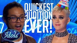 QUICKEST AUDITION EVER! Cody Martin Gets A YES In Under 1 MINUTE On American Idol 2018