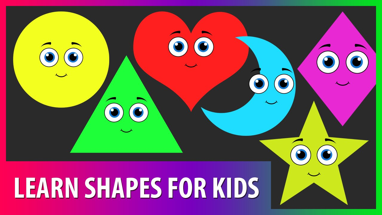 Learn Shapes For Kids. Educational Video For Children