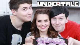 UNDERTALE SPIDER DONUTS ft Dan & Phil! - NERDY NUMMIES