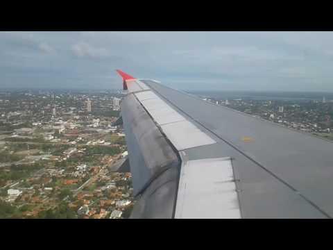 Aterrizaje en Asuncion con Latam airbus A320