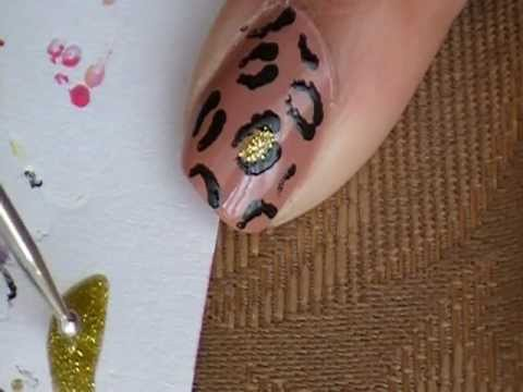 Easy Cheetah Print Nail Design (Requested) - YouTube